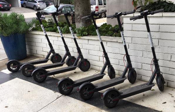 On Site Electric Bike Scooter Share Fleet